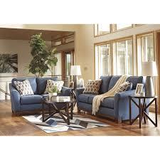 Claremore Sofa And Loveseat by Ashley Furniture Janley Livingroom Set In Denim Local Furniture