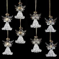Kurt Adler Christmas Mini Tree Ornament Glass Angels Assorted Set Of 8