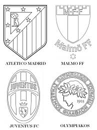 Coloring Page Group A Atletico Madrid