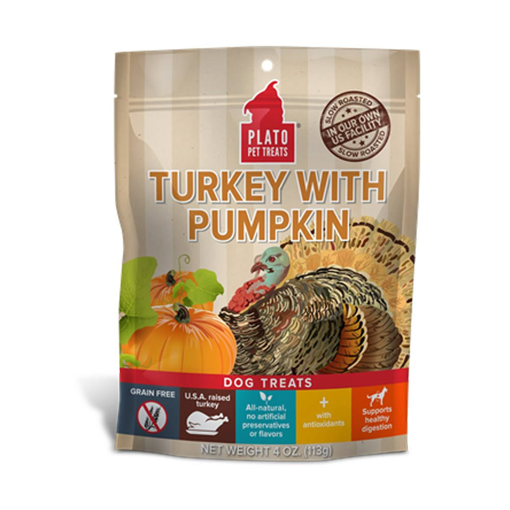 Eos Plato Dog Treats - Turkey With Pumpkin