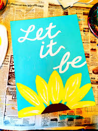 Whisper Words Of Wisdom Let It Be Canvas Diy Painting