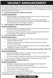 Front Desk Job Salary by Vacancy In Various Positions Business Development Officer Client