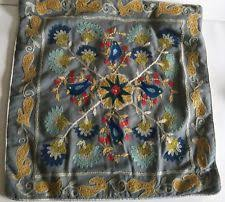 Pier One Canada Decorative Pillows by Pier 1 Imports Embroidered Square Home Décor Pillows Ebay