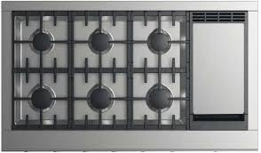 DCS Professional Series CPV2486GDN 48 Inch Professional Cooktop with 6 Burners and Griddle