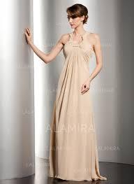 Empire Scoop Neck Floor Length Chiffon Mother of the Bride Dress