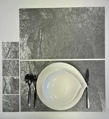 details zu schiefer furnier untersetzer tischsets echtstein 4er set 30x50cm 4er 10x10cm