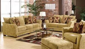 Living RoomInspiring Rustic Room Interior Design Idea With Red Sofa Fascinating Furniture For