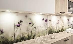 küchenrückwand aus glas praktische gestaltungsidee