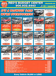 Red's Budget Center, Red's Auto Sale, Ironwood, MI Reds Auto Rehab Solution For Common Automotive Problems 20 New Models Guide 30 Cars Trucks And Suvs Coming Soon Vehicles Sale Ironwood Mi Mileti Industries Redspace Reds First Look Chris Bangle On Red Cedar Sales Williamston Used Enterprises Burlington On 4341 Harvester Rd Canpages H O Danville Va Service 2010 Finiti Qx56 Awd And Truck Auto Truck 1451 Vista View Dr Lgmont Co 80504 Buy Sell Hot Wheels 50th Anniversary Car Collection