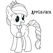 My Little Pony Coloring Page Pages Rarity Applejack Free