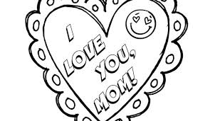 I Love You Mom Mothers Day Coloring Page