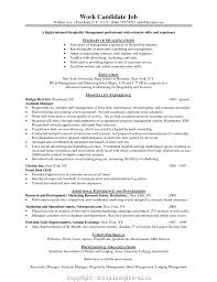 Downloadable Hotel Management Resume Examples Hospitality Template Free