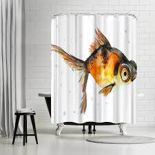 93 Goldfish Shower Curtain POPCreation Goldfish Shower Curtain