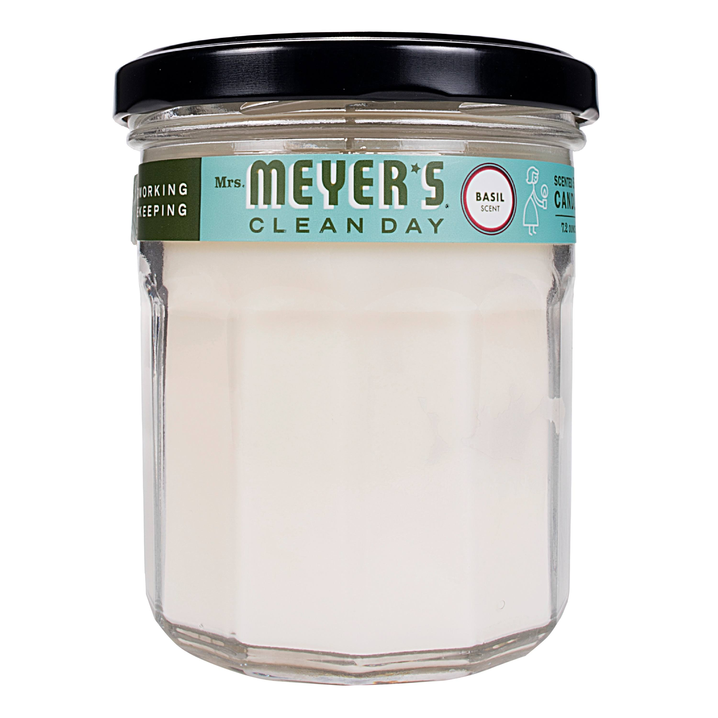 Mrs. Meyer's Clean Day Soy Candle - Scented Basil Jar, 210ml