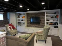 amazing unfinished basement ceiling ideas l shaped and ceiling