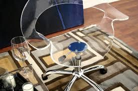 Acrylic Swivel Desk Chair by Baxton Studio Kerr Acrylic Swivel Chair Furniturendecor Com