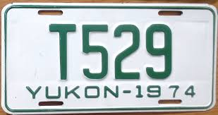 1974 Yukon Truck License Plate T529 | License Plates In 2018 ...
