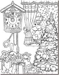 1 Free Christmas Coloring Pages Printables 104259 Royalty RF Clipart Illustration Of A