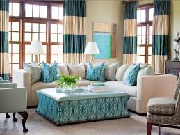 Turquoise Living Room Design With Modern Table And L Shaped Sofa Featuring Cushion Plus White
