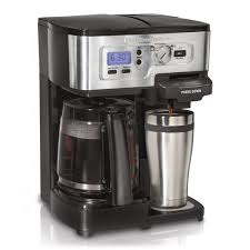 Coffee Maker With Grinder And Timer Fresh Flexbrew 2 Way By Hamilton Beach Machine World
