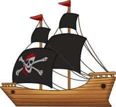 Pirate Ship Vector Clipart Graphic by Firkin