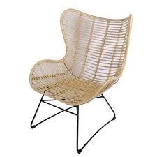 casa moro rattanstuhl breiter rattansessel monia aus naturrattan 77x77x101 cm b t h bequemer relaxsessel fernsehsessel retro stuhl für küche