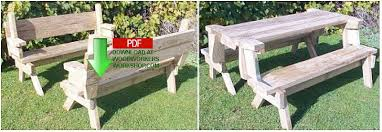 Collapsible Wooden Picnic Table Plans by 24 002 Folding Picnic Table And Bench Seat Combination Pdf