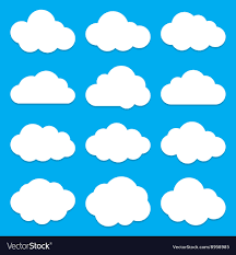 100 Flat Cloud Shapes Collection Set Of Icons
