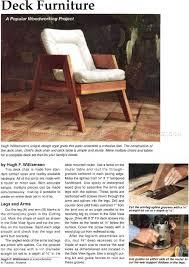 Deck Furniture Plans - Outdoor Furniture Plans | Selling ...