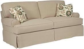 sure fit stretch pique 3 piece t cushion sofa slipcover