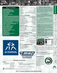 2012 13 emu wrestling media guide by eastern michigan university