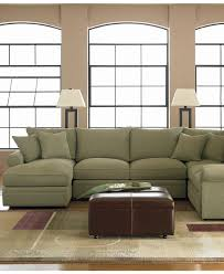 Chateau Dax Jackson Leather Sofa by Doss Fabric Microfiber Sectional Sofa 4 Piece Left Arm Facing