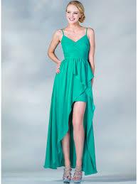 v neckline high low dress sung boutique l a
