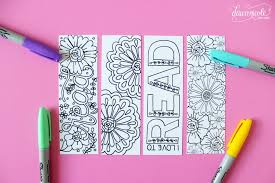 Spring Coloring Bookmarks Printable Page Yellow Bliss Road