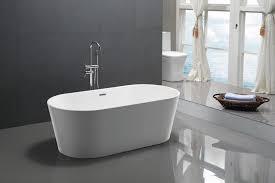 freistehende badewanne mio aus acryl weiß größe und standarmatur wählbar
