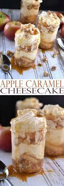 easy no bake dessert recipes apple caramel cheesecake recipe jar desserts