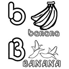 Uppercase B And Lowercase Letter For Banana Ants Carrying A Coloring Sheet