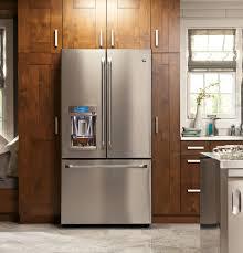 Samsung Cabinet Depth Refrigerator Dimensions by Ge Cye22tshss 36 Inch Counter Depth French Door Refrigerator With