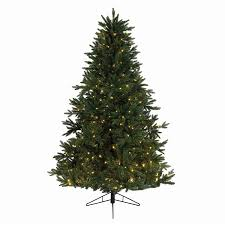 Pre Lit Christmas Tree Rotating Base by Shop Northlight Everlands 7 5 Ft 1093 Count Pre Lit Artificial