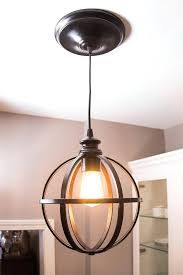 Glass Insulator Pendant Light Diy Geometric Lamp Easy How To Kit Lowes