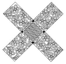 X Marks The Spot Floral Zentangle Coloring Page