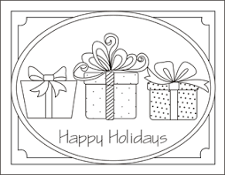 Christmas Gifts Coloring Pages Presents Sheets