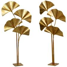 Duncan Floor Lamp Crate And Barrel by Huge Four Ginkgo Leaf Brass Floor Lamp By Tommaso Barbi Brass