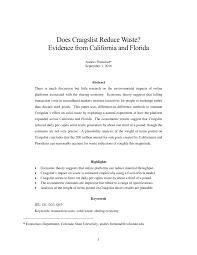 100 Fresno Craigslist Cars Trucks PDF Does Reduce Waste Evidence From California
