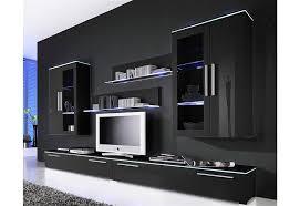 wohnwand line set 6 tlg 2 hängevitrinen 1 glasbodenpaneel 2 tv lowboards kaufen otto