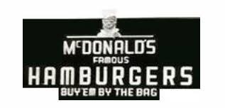 Mcdonalds Second Logo Famous Hamburgers