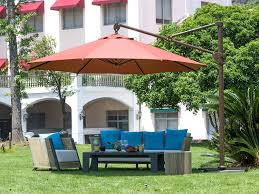 Patio Umbrella With Netting by Abba Patio Apb2350dr 11ft Offset Cantilever Patio Umbrella Hanging