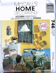 Tie Back Wooden Chair Cover Sewing Pattern - Tie On Slip Cover - Kitchen  Curtains Pattern - Home Decor Pattern - McCalls 746 Or 3142