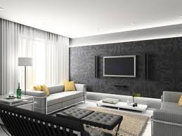 Minimalist Interior Decor For Modern Living Room Design Ideas With Elegant Grey Plush Seat Sofa Including Fortable Assotred Throw Gray