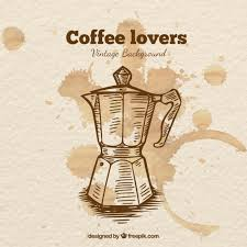 Coffee Maker Drawn Free Vector
